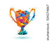 winner trophy cup vector icon. | Shutterstock .eps vector #534274867