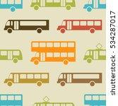 Retro Bus Seamless Pattern....