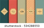 retro vintage seamless pattern... | Shutterstock .eps vector #534288553