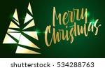 merry christmas lettering. hand ... | Shutterstock .eps vector #534288763