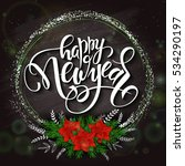 Vector New Year Lettering With...
