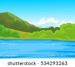 hill iceberg lagoon   cartoon...   Shutterstock .eps vector #534293263
