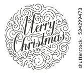 ornate christmas card. original ... | Shutterstock .eps vector #534299473
