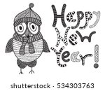 vector happy new year card with ... | Shutterstock .eps vector #534303763