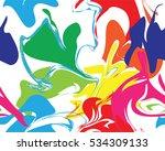 marble rainbow texture seamless ... | Shutterstock .eps vector #534309133