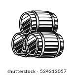 vector black barrels icons on... | Shutterstock .eps vector #534313057