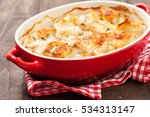 white fish casserole with... | Shutterstock . vector #534313147