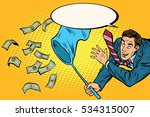 businessman catching money with ... | Shutterstock . vector #534315007