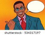 Positive African Businessman...