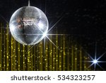 party disco ball with stars in... | Shutterstock . vector #534323257