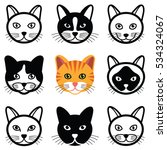 Cat Animal Cartoon Face Icon...