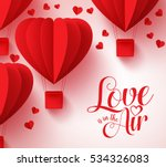 love is in the air typography... | Shutterstock .eps vector #534326083