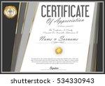 certificate retro design... | Shutterstock .eps vector #534330943