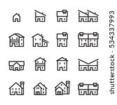 house line icon.set 2 | Shutterstock .eps vector #534337993