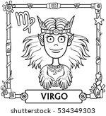 zodiac sign virgo. fantastic... | Shutterstock .eps vector #534349303