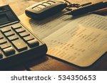 close up of calculator  car... | Shutterstock . vector #534350653