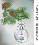 vector christmas fir tree and... | Shutterstock .eps vector #534356047