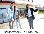 couple with real estate agent... | Shutterstock . vector #534362263