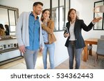 couple with real estate agent... | Shutterstock . vector #534362443