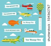 airplanes and helicopters with... | Shutterstock .eps vector #534362767