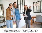 couple with real estate agent...   Shutterstock . vector #534365017