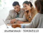couple meeting architect for... | Shutterstock . vector #534365113