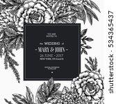 floral wedding invitation.... | Shutterstock .eps vector #534365437