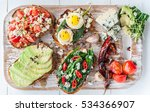 tasty and delicious bruschetta... | Shutterstock . vector #534366907