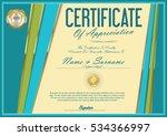 certificate retro design... | Shutterstock .eps vector #534366997