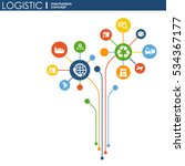 logistic mechanism concept.... | Shutterstock .eps vector #534367177
