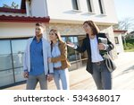 couple with real estate agent... | Shutterstock . vector #534368017
