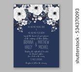 wedding invitation floral... | Shutterstock .eps vector #534370093