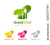 chef logo template. icon of... | Shutterstock .eps vector #534377797