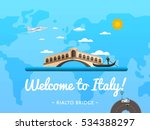 welcome to italy poster with...   Shutterstock .eps vector #534388297