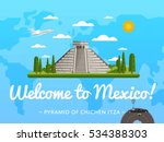 welcome to mexico poster with... | Shutterstock .eps vector #534388303