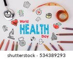 world health day concept.... | Shutterstock . vector #534389293