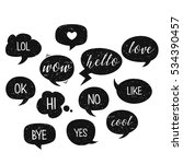 speech bubbles isolated. vector ... | Shutterstock .eps vector #534390457