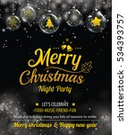 invitation merry christmas... | Shutterstock .eps vector #534393757