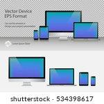 set of realistic computer... | Shutterstock .eps vector #534398617