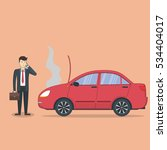businessman with broken car.... | Shutterstock .eps vector #534404017