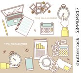 time management banners. timing ... | Shutterstock .eps vector #534404317