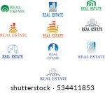 real estate logo set. | Shutterstock .eps vector #534411853