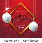 merry christmas sale background ... | Shutterstock .eps vector #534413503