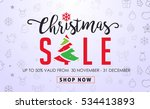 christmas sale background and... | Shutterstock .eps vector #534413893