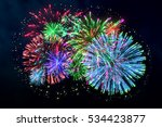 Colorful Firework On Midnight...