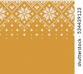 norway festive sweater fairisle ... | Shutterstock .eps vector #534439123