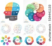 vector circle infographics set. ... | Shutterstock .eps vector #534441133