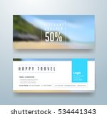 discount voucher template with... | Shutterstock .eps vector #534441343