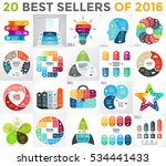 20 infographics best sellers of ... | Shutterstock .eps vector #534441433