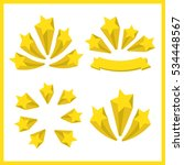 yellow stars. a set of stars.... | Shutterstock .eps vector #534448567